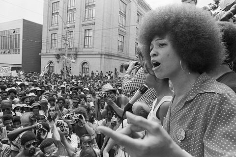 Angela Davis Addressing Rally