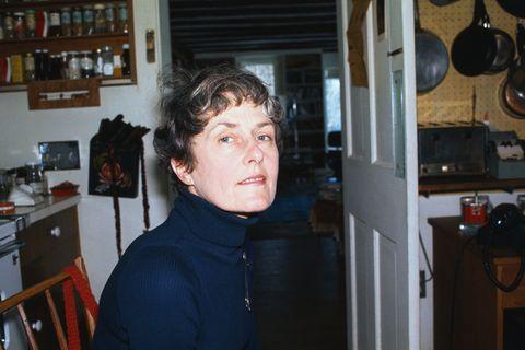 photographer inge morath, wife of arthur miller, at home