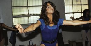 Actress Jane Fonda Exercising