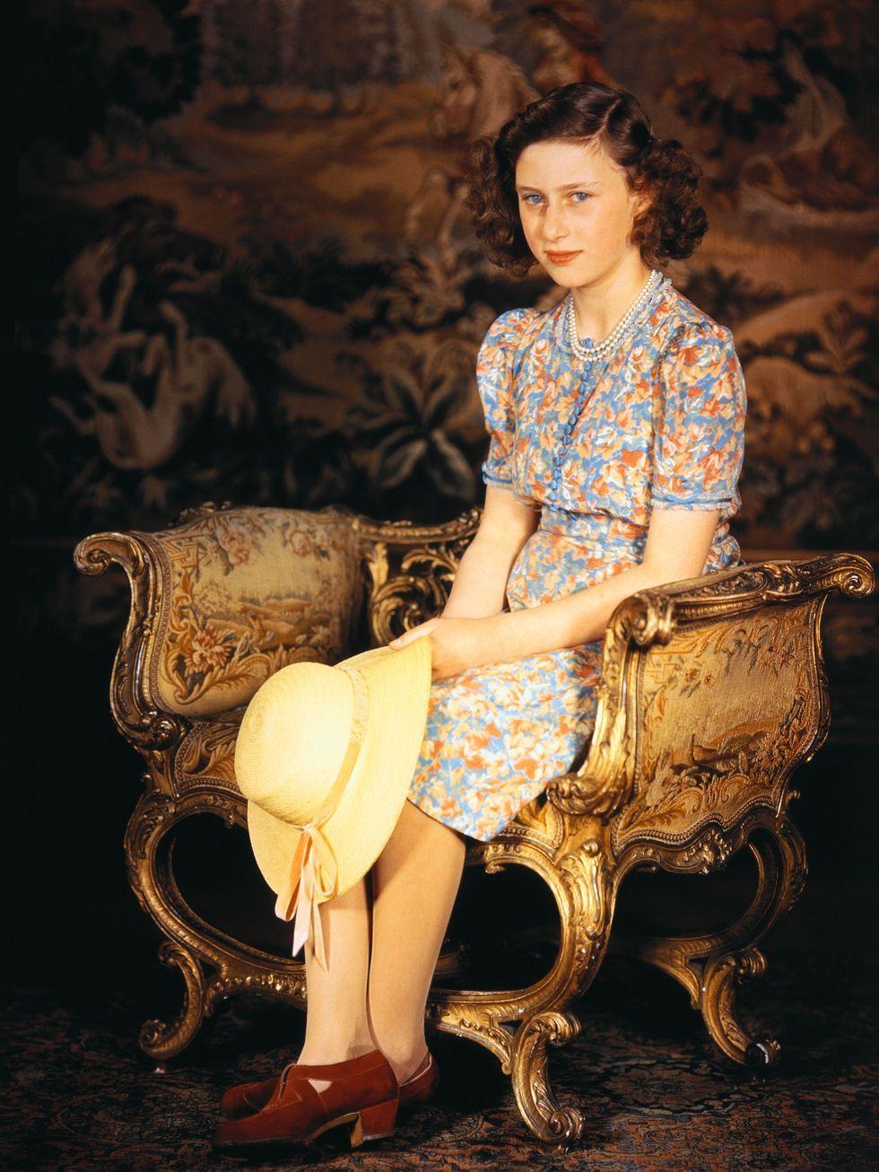 Princess Margaret Rose of England Posing for Photograph