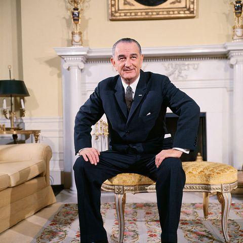President Lyndon B. Johnson in White House