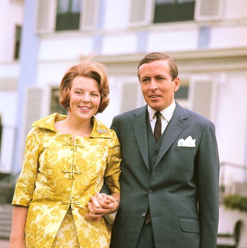 crown princess beatrix, 27, with her fiance, claus von amsberg, 38, a west german diplomat, june 28 the couple appeared shortly after their engagement was announced  location soestdijk, holland