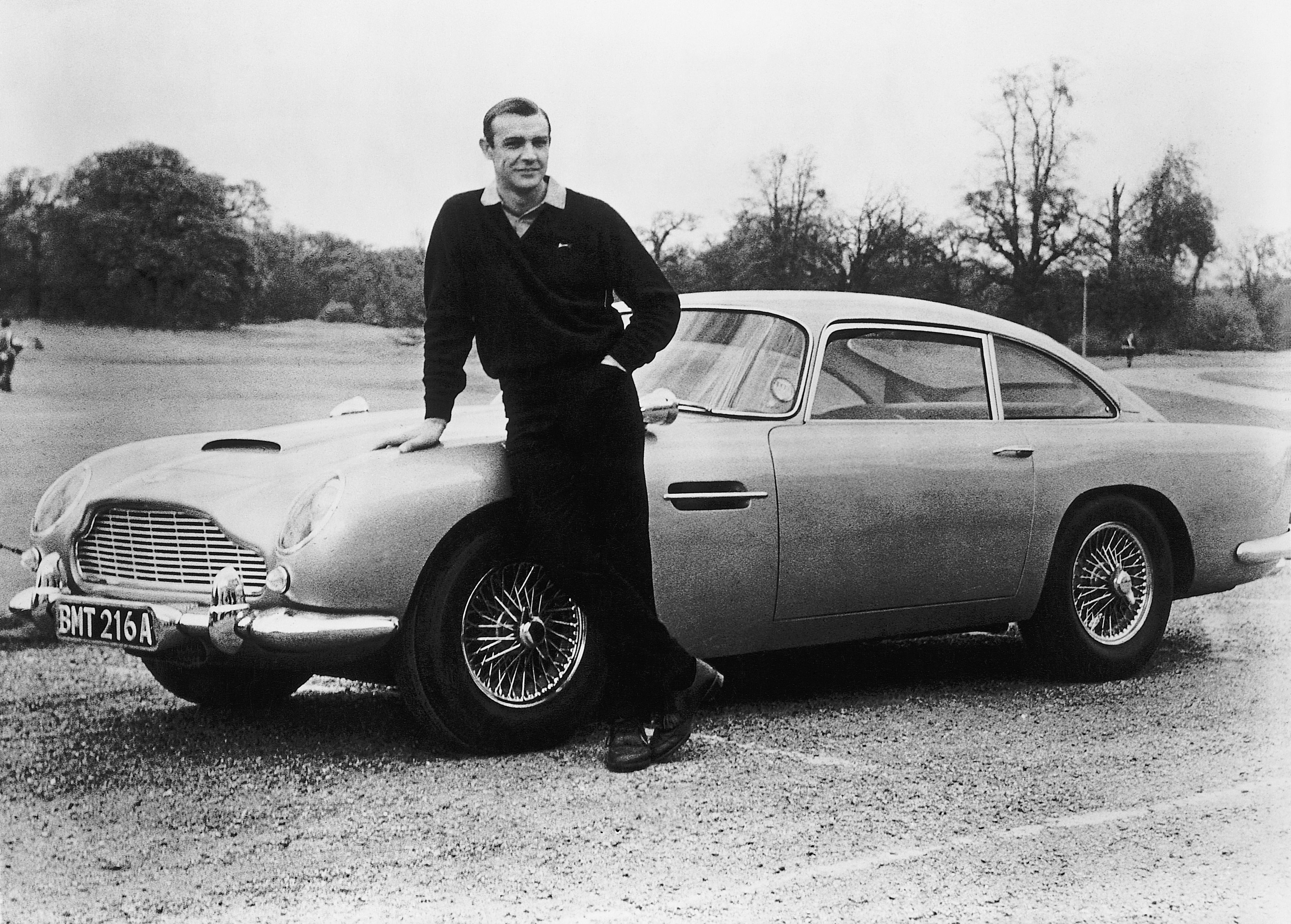 Αποτέλεσμα εικόνας για sean connery with his aston martin db5 goldfinger