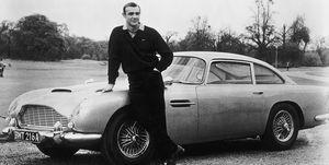 Sean Connery James Bond Aston Martin DB5 Goldfinger