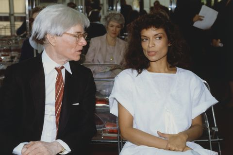 Andy Warhol and Bianca Jagger Talking