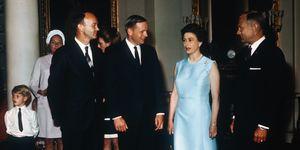 Queen Elizabeth II and Apollo 11 Astronauts