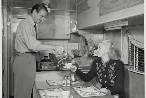 Ginger Rogers and Jack Briggs Having Breakfast