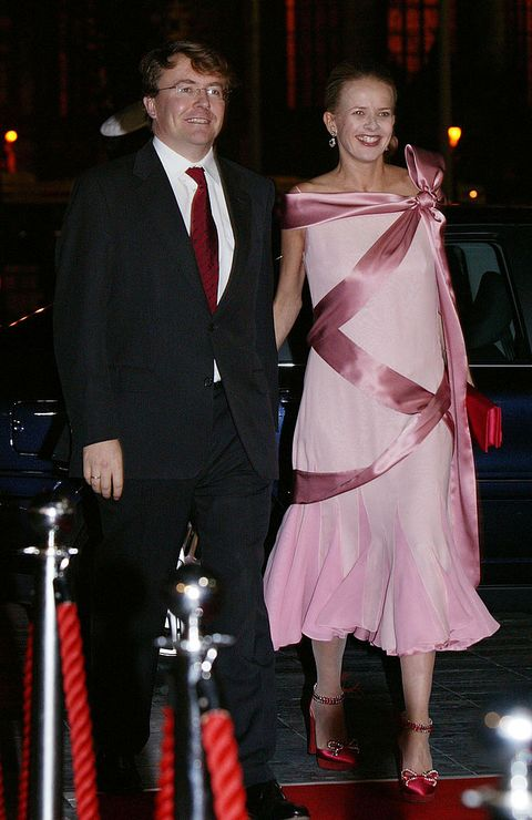 the hague, netherlands   november 24  prince johan friso and princess mabel , who is pregnant, attend a dance performance in honour of the wedding of the princess and prince november 24, 2004 in the hague, netherlands  photo by michel porrogetty images