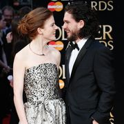 london, england   april 03  rose leslie and kit harington attend the olivier awards with mastercard at the royal opera house on april 3, 2016 in london, england  photo by luca teuchmannluca teuchmann  wireimage