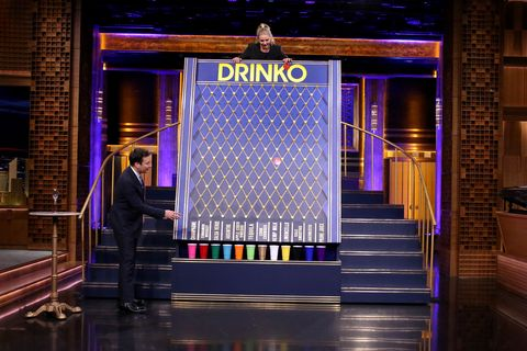 the tonight show starring jimmy fallon    episode 0449    pictured l r host jimmy fallon and actress cameron diaz play drinko on april 6, 2016    photo by andrew lipovskynbcu photo banknbcuniversal via getty images via getty images
