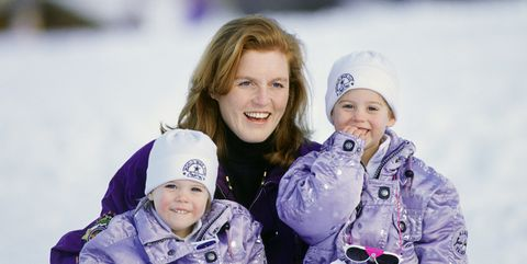 Sarah Beatrice And Eugenie Skiing Holiday