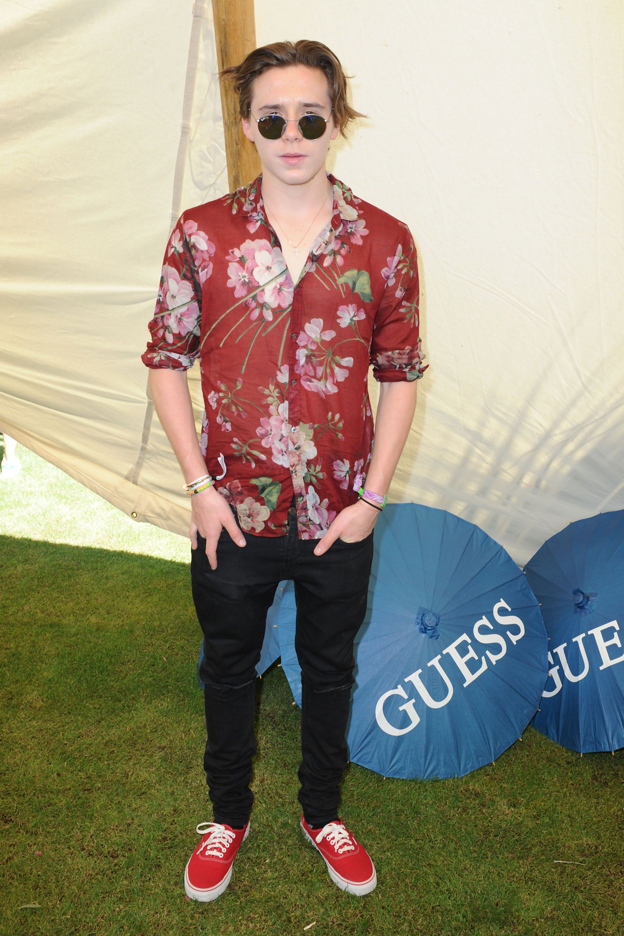 Brooklyn Beckham in Gucci.