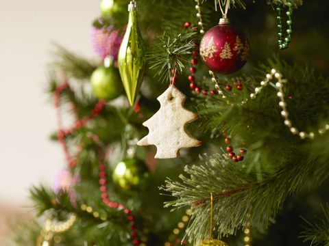 close up of christmas tree with baubles and christmas biscuits - When Are You Supposed To Take Your Christmas Tree Down