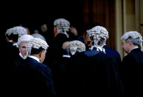 barristers at british court   uk criminal justice system