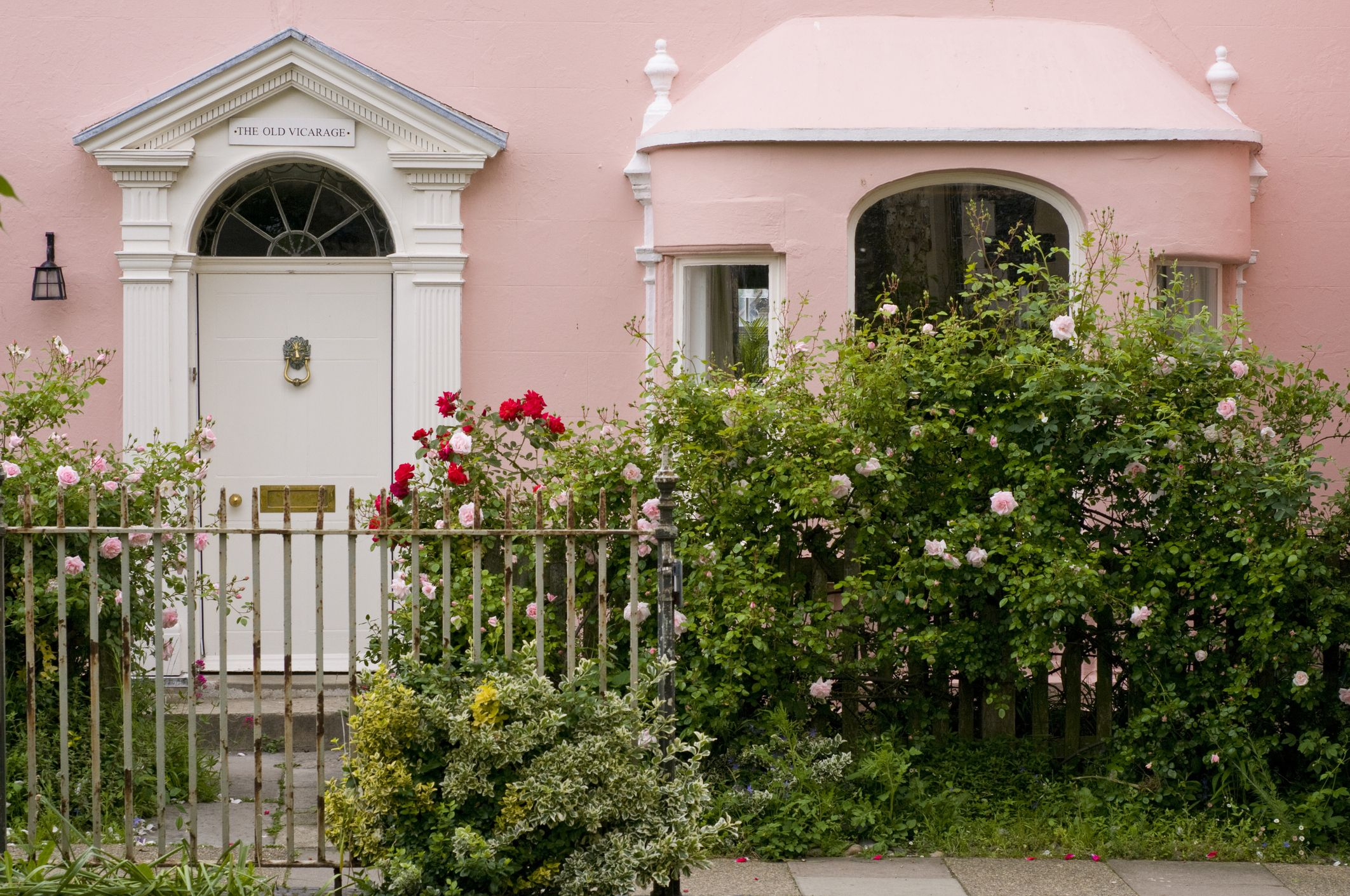 Pink Cottage With Roses
