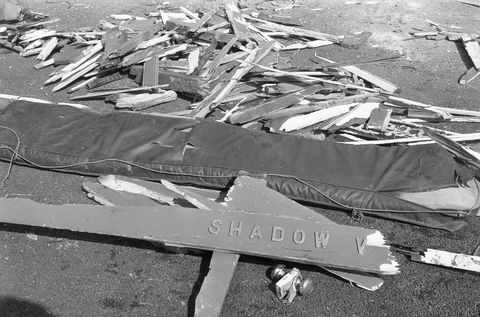 killing of lord louis mountbatten by ira explosion at mullaghmore,co sligo part of the wreakage of lord mountbattens boat the shadow v, circa august 1979 part of the independent newspapers irelandnli collection photo by independent news and mediagetty images