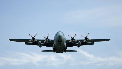 C-130 Hercules in flight