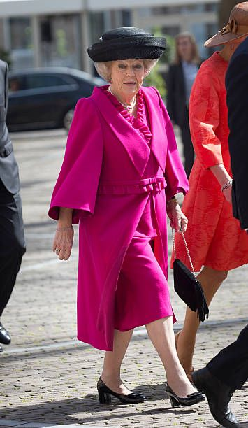 middelburg, netherlands   april 21 princess beatrix of the netherlands arrives to attend the four freedoms awards on april 21, 2016 in middelburg netherlands photo by michel porrogetty images