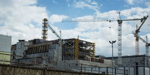 30th anniversary of the Chernobyl accident, construction of the New Safe Confinement structure