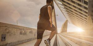 correr, verano, mes, agosto, entrenar