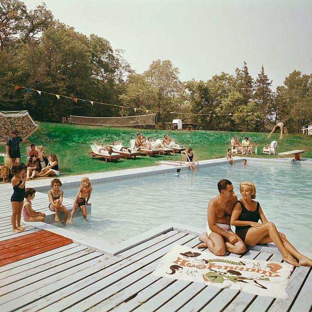 Poolside at Belvedere Manor