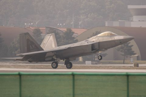Air Force Releases Explanation for April's F-22 Belly Flop Accident