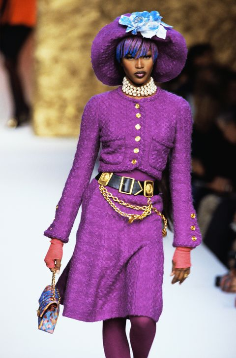 Supermodel Naomi Campbell Wearing Chanel Couture