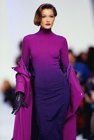 Former First Lady Of France Carla Bruni Just Walked The Versace Runway In Milan