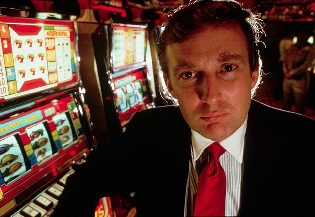 donald trump attends the opening of his new casino, the taj mahal, in atlantic city, new jersey 1989  location taj mahal casino, atlantic city, new jersey, usa photo by ������ leif skoogforscorbiscorbis via getty images