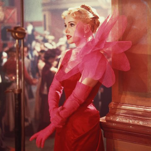 hungarian born american actress zsa zsa gabor as she appears in the film 'moulin rouge', 1952 she is wearing a dress designed by elsa schiaparelli