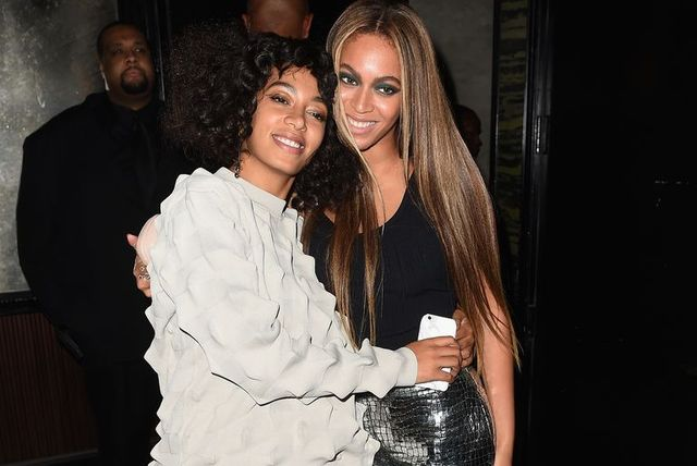 new york, ny   may 02  singers solange knowles and beyonce attend the balmain and olivier rousteing after the met gala celebration on may 02, 2016 in new york, new york  photo by nicholas huntgetty images for balmain
