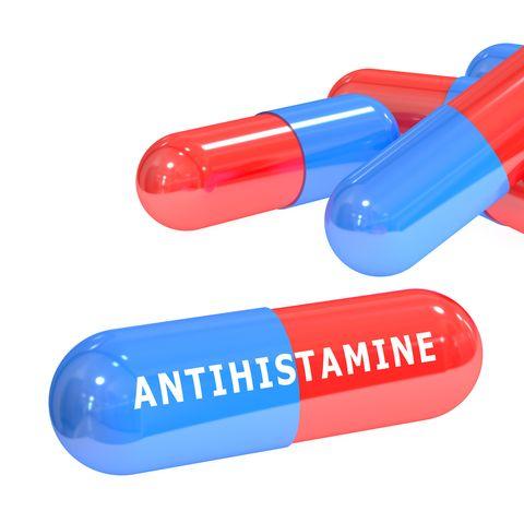 antihistamine pills 3D rendering