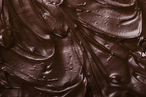 texture of chocolate icing close up