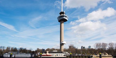 Tower, Landmark, Sky, Observation tower, Control tower, Architecture, Cloud, Tourist attraction, Building, City,