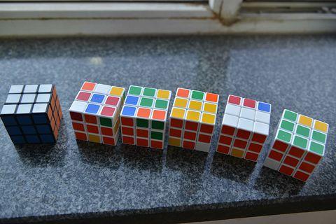 various rubiks cubes