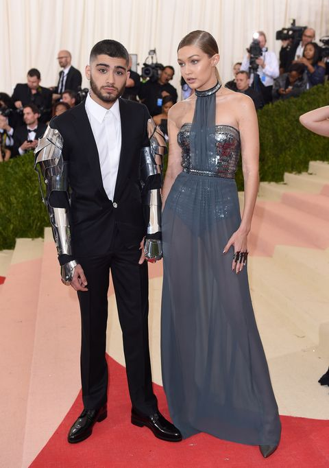 new york, ny   may 02  gigi hadid and zayn malik arrive for the manus x machina fashion in an age of technology costume institute gala at metropolitan museum of art on may 2, 2016 in new york city  photo by karwai tangwireimage