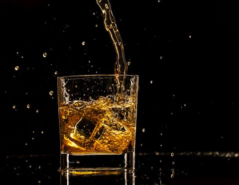 Water, Drink, Liquid, Glass, Space, Drinkware, Still life photography, Distilled beverage, Old fashioned glass, Scotch whisky,