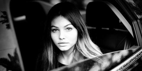 Hair, Face, Photograph, Black, White, Black-and-white, Beauty, Automotive design, Photography, Lip,