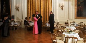 President Johnson Dances With Princess Margaret