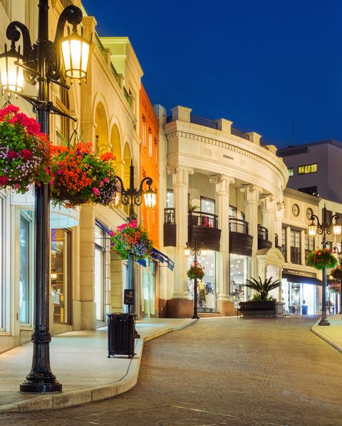 Stores on Rodeo Drive in Beverly Hills Los Angeles California