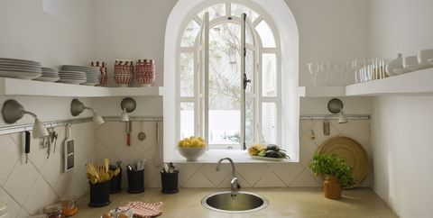 Room, Property, Interior design, Furniture, House, Architecture, Building, Kitchen, Window, Home,