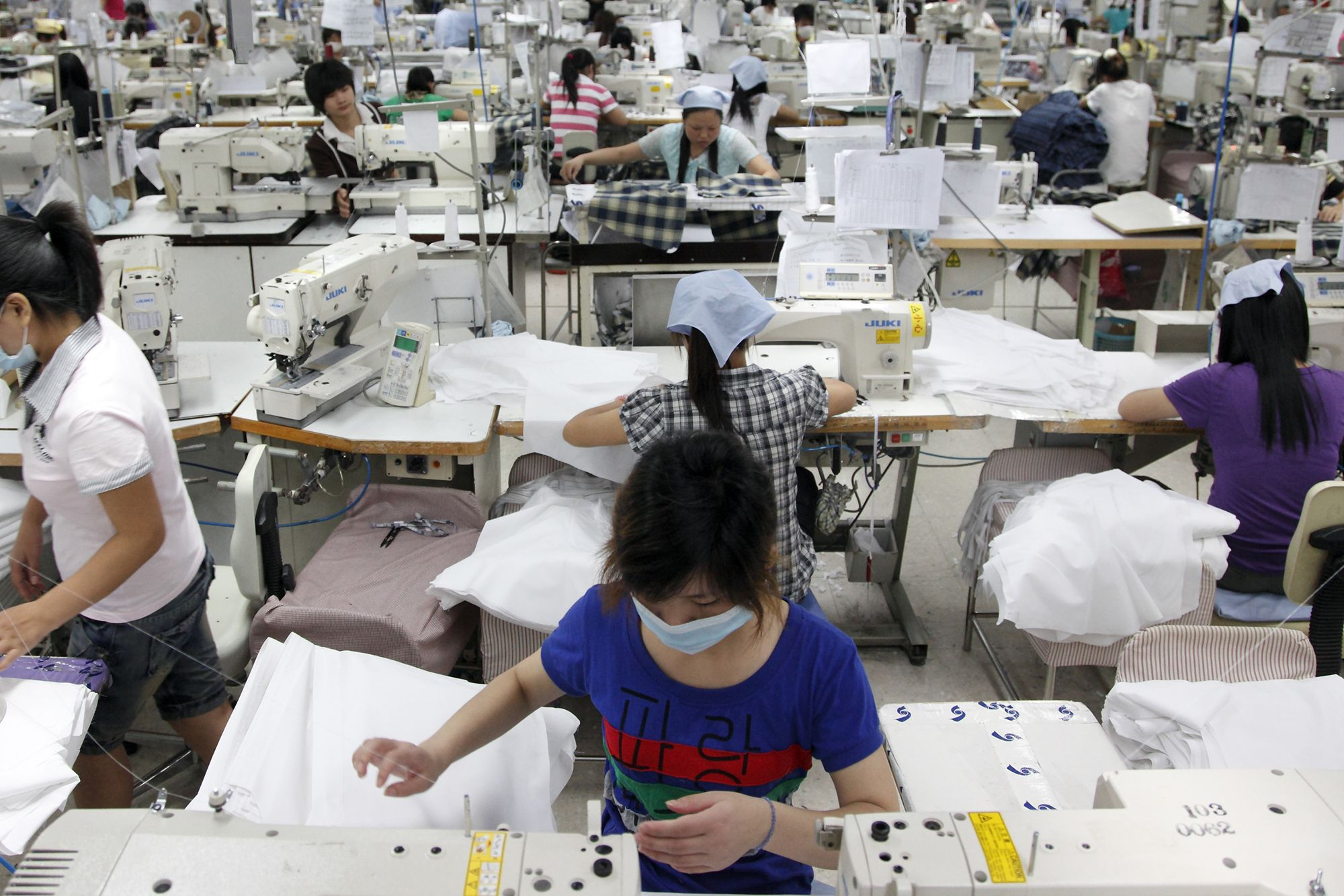 China - Manufacturing - Textile Alliance Apparel factory in Qingxi Township