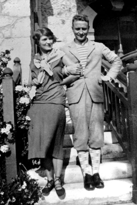 Scott Fitzgerald with Zelda on the French Riviera