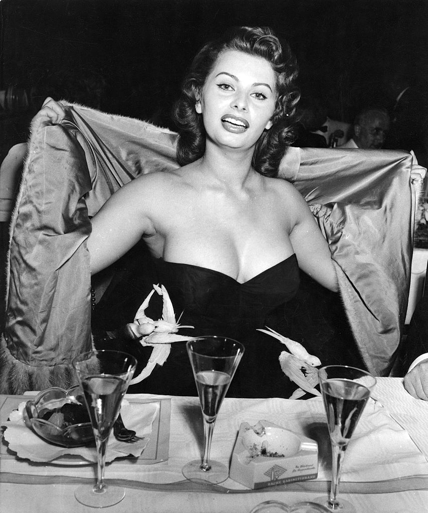 Sophia Loren bathing suit
