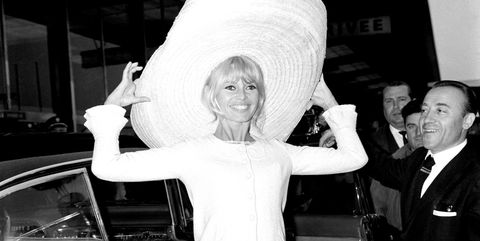 orly, france   may 26 french actress brigitte bardot back from mexico on may 23, 1965 in orly, france photo by keystone francegamma keystine via getty images
