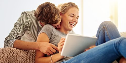 Sitting, Comfort, Electronic device, Technology, Fun, Tablet computer, Leisure, Laptop, Gadget, Computer,