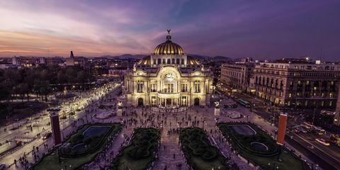Landmark, Sky, Architecture, Basilica, City, Building, Urban area, Night, Cityscape, Dome,