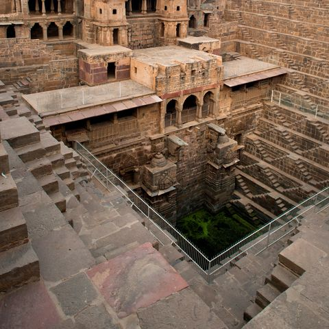 india rajasthan abhneri  water tank photo by hermes imagesagfuniversal images group via getty images