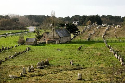 carnac stones elevated view