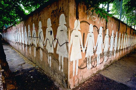 The murals against femicide in Rome